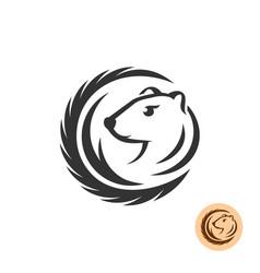 mink elegant logo vector image