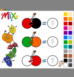 Mix colors game for kids vector