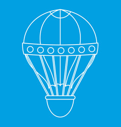 Old fashioned helium balloon icon outline style vector