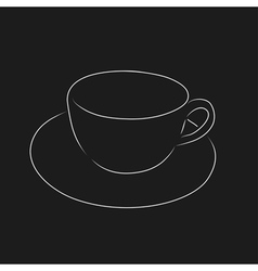 Outline of cup vector image