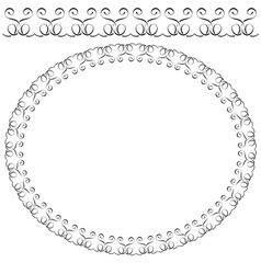 Oval frame on white background vector