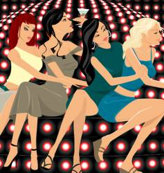 party girls vector image vector image