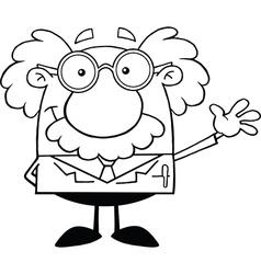 Scientist cartoon vector image