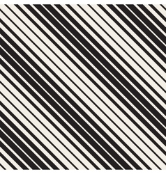 Seamless black and white parallel diagonal vector