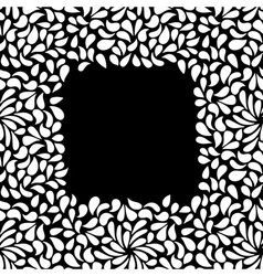 seamless painted frame shape pattern hand drawn vector image