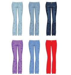 Set of jeans vector image vector image