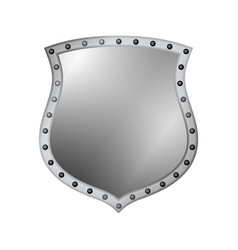 Shield silver gray icon shape emblem vector