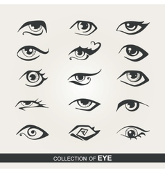 Stylized set of eyes vector image vector image