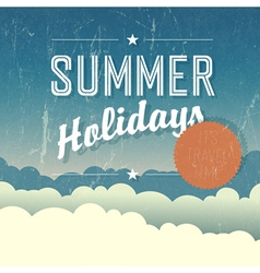 summer holidays template vector image