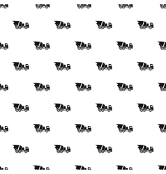 Truck mixer pattern simple style vector