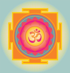 Sacred Geometry aum yantra vector image