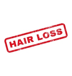 Hair loss text rubber stamp vector