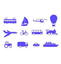 symbols vehicles vector image
