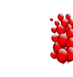 Background with red balloons vector image