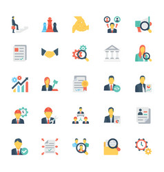 Human resources and management icons 3 vector