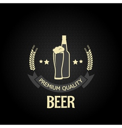 Beer bottle glass design background vector