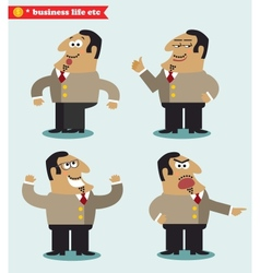 Boss emotions in poses vector