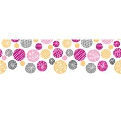 Abstract textured bubbles horizontal border vector image