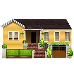 A big yellow house vector