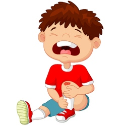 Little boy crying vector