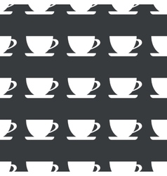 Straight black cup pattern vector