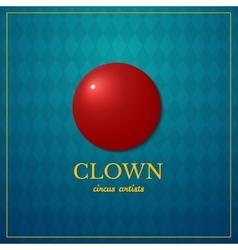 Clown logo circus design vector image