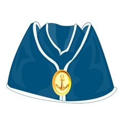 Headdress of the sailor oversea cap vector