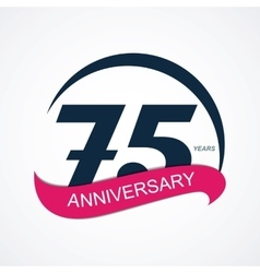 Template logo 75 anniversary vector