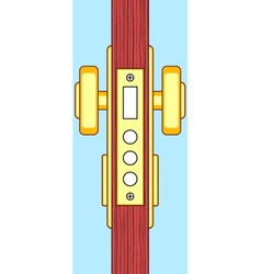 Door end view vector