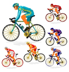 National cyclist 5 vector