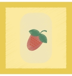 Flat shading style icon strawberry natural vector