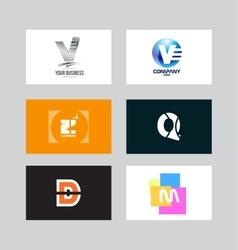 Alphabet letter icon logo set vector image vector image