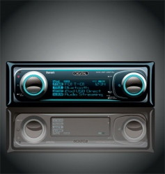 car radio vector image