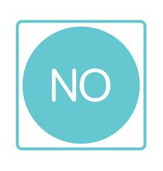 check mark icon no reject negativity vector image