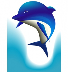 cheerful dolphin vector image vector image