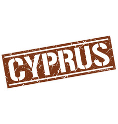 Cyprus brown square stamp vector