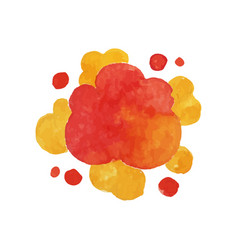 Explode effect in red and yellow colors bright vector