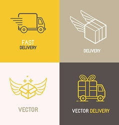 Express delivery service logo vector