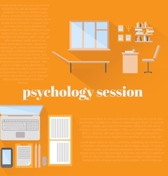 Flat psychologist office for counseling vector