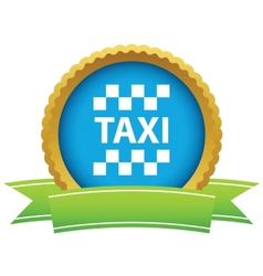 Gold taxi logo vector