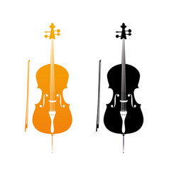 golden icons of cello vector image vector image