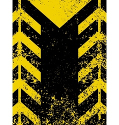 Grungy worn hazard stripe vector