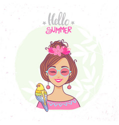 Hello summer color vector