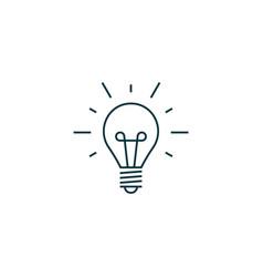 Idea bulb icon simple vector