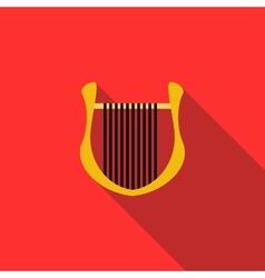 Lyre icon in flat style vector