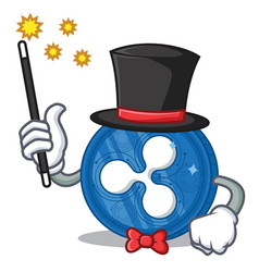 Magician ripple coin character cartoon vector
