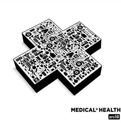 Medical cross bl vector