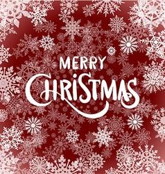 Merry christmas - red glittering lettering design vector