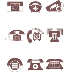 old phone icons vector image
