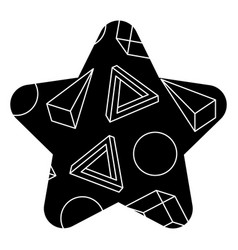 Pattern shape star with geometric memphis style vector